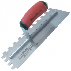"""Marshalltown M775SD Notched Trowel Stainless Steel 11"""" x 4.1/2 Notch Size 13mm x 13mm Durasoft Handle"""