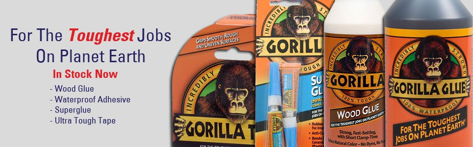 Gorilla Glue Adhesive and Tape - Tool and Fix
