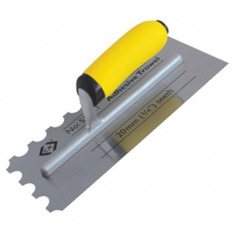 Notched and Serrated Trowels