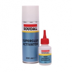 Soudal 115103 Mitre Fast Kit Standard 50g with 200ml Activator