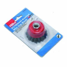 "Hilka 51960025 Knotted Cup Brush 2.1/2"" (65mm) M14"