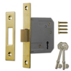ERA 572-32 Mortice Deadlock 3 Lever 76mm Polished Brass