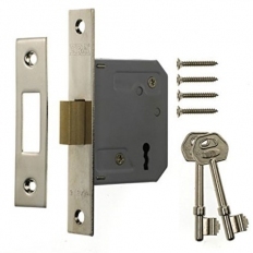 ERA 572-62 Mortice Deadlock 3 Lever 76mm Chrome Plated
