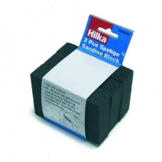 Hilka 68100725 Sponge Sanding Blocks Pack of 3 Assorted