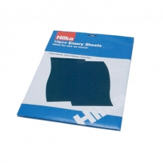 Hilka 68902310 Emery Cloth Sheets Pack of 10 Assorted