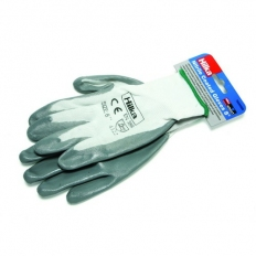 Hilka 75030008 Nitrile Coated Grip Gloves Size 8 Small