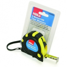 Hilka 75950003 Tape Measure 3m 18mm Wide Blade With Non Slip Rubber Case