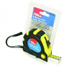 Hilka 75950005 Tape Measure 5m 19mm Wide Blade With Non Slip Rubber Case