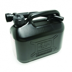 Hilka 84809025 Plastic 5L Fuel Can Black
