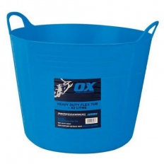 OX P110673 Pro Heavy Duty 73 Litre Flexi Tub Blue