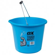 OX P112315 Pro Tough 15 Litre Bucket with High Rubber Content