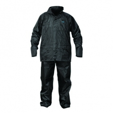 OX S249703 Rain Suit with Concealed Hood Black Large