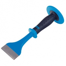 "OX P092103 Pro Electricians Flooring Chisel Bolster With Hand Guard 3"" X 11"""