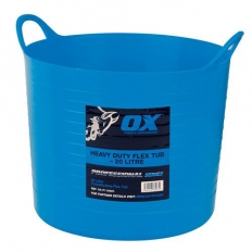 OX P110620 Pro Heavy Duty 20 Litre Flexi Tub Blue