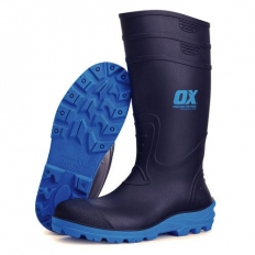 OX S242405 Safety Wellington Boot Size 5 Black With Safety Toe And Midsole