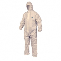 OX S243603 Type 5/6 Disposable Coverall Boilersuit White Size Large