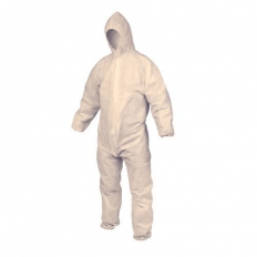 OX S243701 PP Disposable Coveral Boilersuit White 40g Size Small