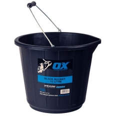 OX T110715 Trade Black Builders Bucket 15 Litre