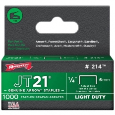 "Arrow JT21 Staples Size: 1/4"" - 6mm Pack: 1000"