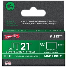 "Arrow JT21 Staples Size: 5/16"" - 8mm Pack: 1000"