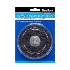 """BlueSpot 19648 100mm (4"""") Rust Remover Grinding Wheel with Shank"""