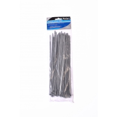 BlueSpot 40059 50 Piece 4.8mm X 250mm Silver Cable Ties