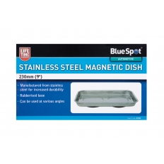"""BlueSpot 07651 180mm (9"""") Stainless Steel Magnetic Dish"""
