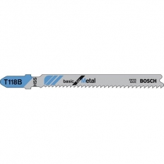 Bosch T118B Metal Cutting Jigsaw Blades Pack of 5