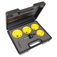 CK 424046 HSS Bi Metal Variable Pitch Hole Saw Kit For Downlighters 6 Piece