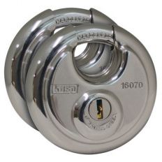 Kasp K16070D2 Disc Padlock Stainless Steel 60mm Twin Pack