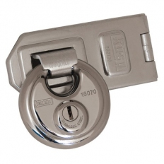 Kasp K16070D260 Disc Padlock Stainless Steel 70mm With Security Hasp and Staple