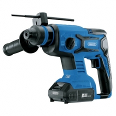 Draper 00592 D20 20V Brushless SDS+ Rotary Hammer Drill with 2 x 2Ah Batteries and Charger