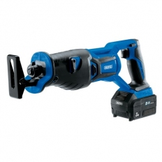 Draper 00593 D20 20V Brushless Reciprocating Saw with 3Ah Battery and Fast Charger