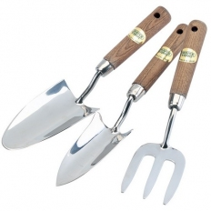 Draper 09565 Expert 3 Piece Stainless Steel Hand Fork and Trowels Set