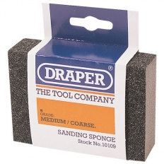 Draper 10109 Medium - Coarse Grit Flexible Sanding Sponge