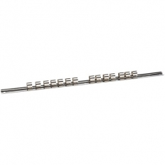 "Draper 50583 1/2"" Sq. Dr. Retaining Bar with 14 Clips (400mm)"