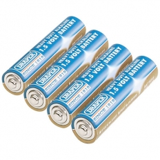 Draper 61833 4 Heavy Duty AAA-Size Alkaline Batteries