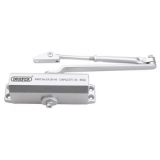 Draper 62893 Adjustable Automatic Door Closer for Doors Between 25kg & 45Kg