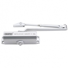 Draper 62894 Adjustable Automatic Door Closer for Doors Between 15kg & 30Kg