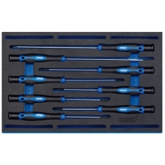 Draper 63399 Extra Long Precision Screwdriver Set in 1/4 Drawer EVA Insert Tray (8 Piece)