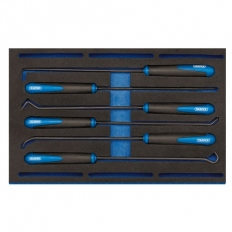 Draper 63494 Long Reach Hook and Pick Set in 1/4 Drawer EVA Insert Tray (6 Piece)