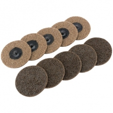 Draper 75628 Ten 75mm Polycarbide Abrasive Pads (Course)