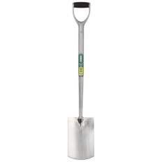 Draper 83754 Extra Long Stainless Steel Garden Spade with Soft Grip