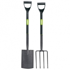 Draper 83971 Carbon Steel Garden Fork and Spade Set