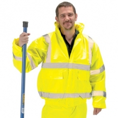 Draper 84724 High Visibility Bomber Jacket - Size M