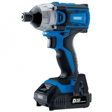 "Draper 86958 D20 20V Brushless 1/4"" Impact Driver with 2 x 2Ah Batteries and Charger (180Nm)"