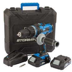 Draper 89523 Storm Force® 20V Cordless Combi Drill with Two Li-ion Batteries