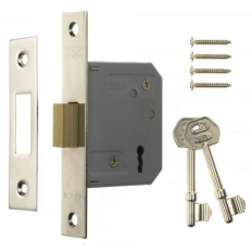 ERA 472-32 Mortice Deadlock 3 Lever 67mm Polished Brass