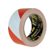 Everbuild 2HAZRD Pvc Hazard Tape Red/White 50mm X 33 Metre
