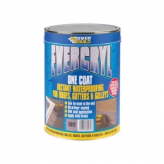 Everbuild EVCGY01 Evercryl Grey One Coat 1kg